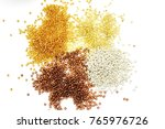 beads on the white background.... | Shutterstock . vector #765976726