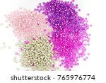 beads on the white background.... | Shutterstock . vector #765976774