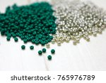 beads on the white background.... | Shutterstock . vector #765976789