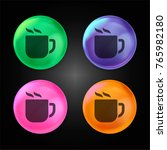 hot coffee cup crystal ball... | Shutterstock .eps vector #765982180