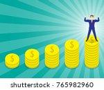 business concept as a muscular...   Shutterstock .eps vector #765982960