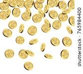 falling gold coins  money... | Shutterstock .eps vector #765984400