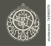 monochrome image of the...   Shutterstock .eps vector #765985570