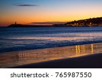 atlantic ocean  water sheen on... | Shutterstock . vector #765987550
