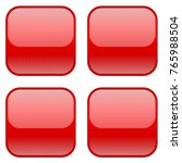 red square icons. vector... | Shutterstock .eps vector #765988504