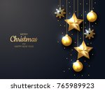 vector illustration of merry... | Shutterstock .eps vector #765989923