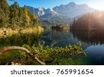 awesome alpine highlands in... | Shutterstock . vector #765991654