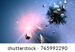 abstract broken forms and... | Shutterstock .eps vector #765992290
