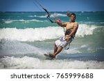 kitesurfer front close up | Shutterstock . vector #765999688