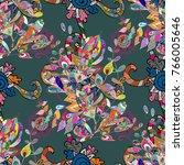 pattern for wedding card... | Shutterstock . vector #766005646