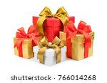 set of gift box isolated on... | Shutterstock . vector #766014268