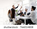team of architects working... | Shutterstock . vector #766014808
