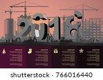 huge 2018 under construction in ... | Shutterstock .eps vector #766016440