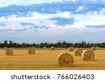 cloudy sky over a field of... | Shutterstock . vector #766026403