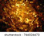 Gold Geometric Low Poly Vector...