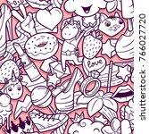 graffiti seamless pattern with... | Shutterstock . vector #766027720