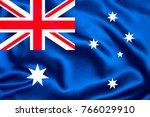 australia fabric flag | Shutterstock . vector #766029910