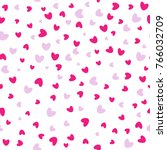 seamless love pattern.... | Shutterstock .eps vector #766032709