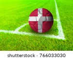 3d rendering football ball with ... | Shutterstock . vector #766033030