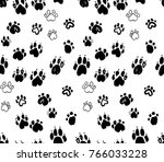 dog's paws seamless pattern....   Shutterstock .eps vector #766033228