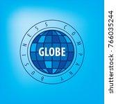 earth logo template. globe sign | Shutterstock .eps vector #766035244