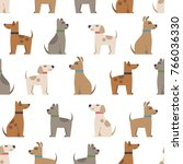 vector seamless pattern with...   Shutterstock .eps vector #766036330