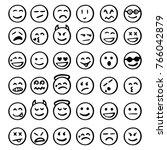 set of emoticons  set of emoji  ... | Shutterstock .eps vector #766042879