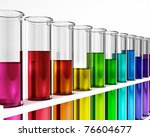 Test Tube   Rainbow Colored  ...