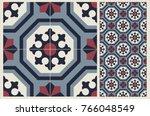 arabic patter style tiles for... | Shutterstock .eps vector #766048549