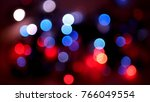 out of focus multicolored... | Shutterstock . vector #766049554