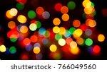 multicolored defocused blurred... | Shutterstock . vector #766049560