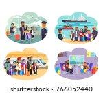 world refugee day promotional... | Shutterstock . vector #766052440