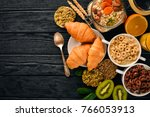 breakfast served with coffee ... | Shutterstock . vector #766053913