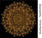 mandala golden   vector  floral ... | Shutterstock .eps vector #766054930