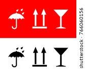 icons umbrella  arrows up ... | Shutterstock .eps vector #766060156