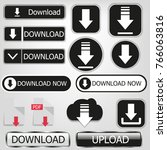 download icon set | Shutterstock .eps vector #766063816