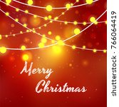 merry christmas greeting card... | Shutterstock .eps vector #766064419