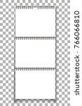 spiral blank wall calendar mock ... | Shutterstock .eps vector #766066810