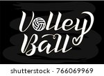 volleyball white lettering on... | Shutterstock .eps vector #766069969