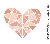 the heart of the pink gold... | Shutterstock .eps vector #766071109