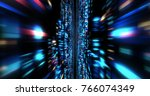3d futuristic abstract... | Shutterstock . vector #766074349