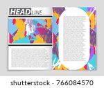 abstract vector layout... | Shutterstock .eps vector #766084570