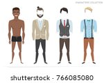 clothing sets for black african ... | Shutterstock .eps vector #766085080