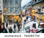 quebec  canada   december 21 ... | Shutterstock . vector #766085734