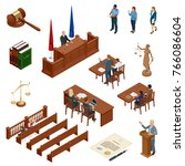 isometric law and justice.... | Shutterstock .eps vector #766086604