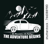 adventure hand drawn label... | Shutterstock .eps vector #766088980