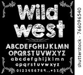 vector set hand drawn fonts abc ... | Shutterstock .eps vector #766096540