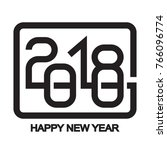 happy new year 2018 text design ... | Shutterstock .eps vector #766096774