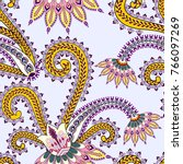 seamless pattern with big ... | Shutterstock .eps vector #766097269