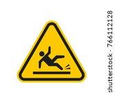 wet floor sign | Shutterstock . vector #766112128